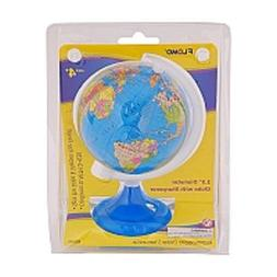 "Desktop Miniature Globe Of The World Pencil Sharpener 6"" Tal"