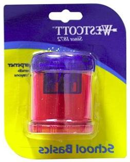 Westcott Double-hole Handheld Manual Pencil Sharpener, 1 Pcs