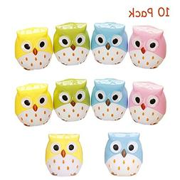 QY-Our 10 Pack Double Holes Pencil Sharpeners Cute Cartoon A