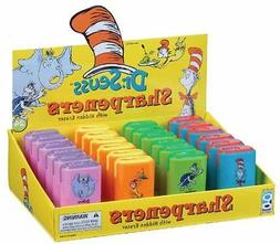 Dr Seuss Eraser and Pencil Sharpener Assortment, 24 Pieces