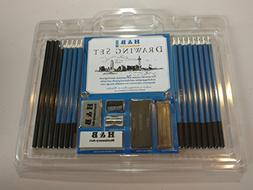 Drawing Art Set; Pencils and Charcoals for Sketching and Sha