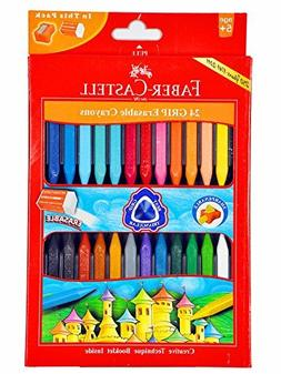 Faber-castell Early Age Moulded Erasable Grasp Crayons for A