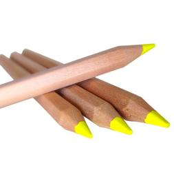 Eco Highlighter Pencils - Set of 4 YELLOW - Will Not Bleed o