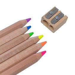 Eco Highlighter Pencils Jumbo Size Neon Color Pencils with W