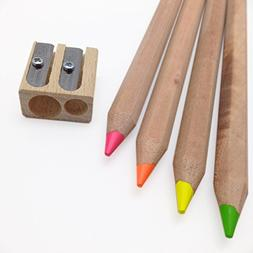 Eco Highlighters - Set of 4 Dry Highligher Pencils Will Not