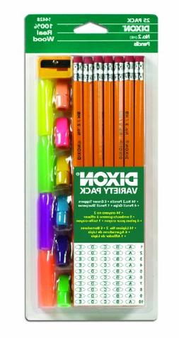 Dixon Economy Pencil Variety Pack, 14 Number 2 Soft Pencils,