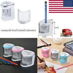 Electric Auto Pencil Sharpener Battery Operated Quickly & Sa