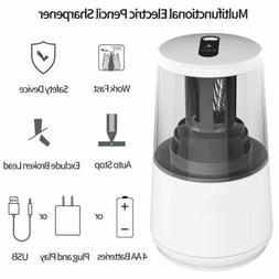 Electric Battery Operated Pencil Sharpener Desk School Offic