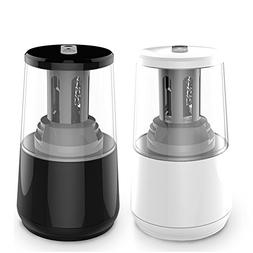 Electric Pencil Sharpener 2 Pcs, Heavy-Duty Helical Blade to