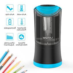 Electric Pencil Sharpener with Durable Helical Blade to Fast