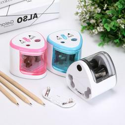 Electric Pencil Sharpener Auto Durable Portable School Class