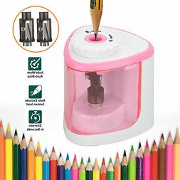 automatic electric pencil sharpener for kids battery