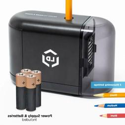 LD Products Electric Pencil Sharpener, Batteries & Wall Powe