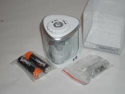 TOOLSAND ELECTRIC PENCIL SHARPENER BATTERY POWERED WHITE/SIL