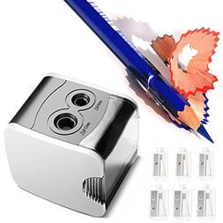 Electric Pencil Sharpener Normei Double Holes, Battery Power
