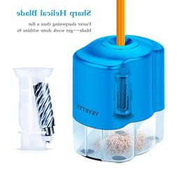 Electric Pencil Sharpener - Helical Blade, Auto-stop Feature