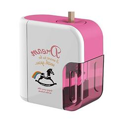Baidecor Electric Pencil Sharpener Pink Wooden Horse