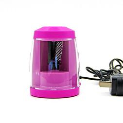 Baidecor Electric Pencil Sharpener Pink With Adaptor