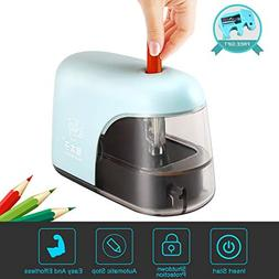 Electric Pencil Sharpener, Auto-Stop Safty Feature Electric
