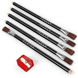 ARTEZA Eraser Pencil, Set of 6, White Color with Brush inclu