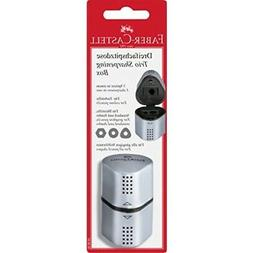 Faber-Castell Grip Trio Pencil Sharpener - Grey