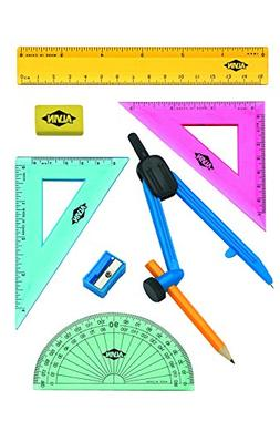 Alvin FL04 8-Piece Geometry Set with Compass