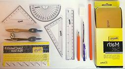 Alescoo - 13 pcs Geometry Set, Perfect for students, Include