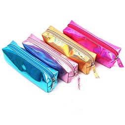 Glitter Colorful Laser Pencil Case, Large Capacity Soft Penc