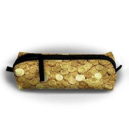 MOOTIL Gold Coins Amazing Printing Portable Pen Holder Stati