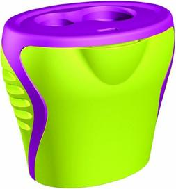 Generic Green and Purple 2 Hole Sharpener