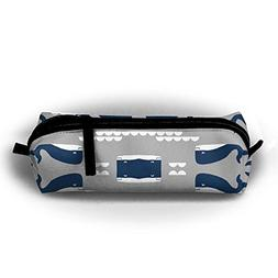 TGDFDSDF89 Grey Navy Whales Pen Bag Pencil Case Kids Large C