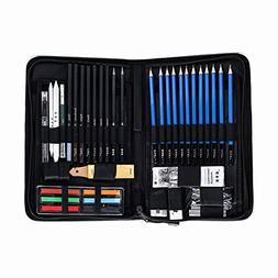 Guodanqing H&B 48 Piece Sketch Wood Pencil Painting Tool Set