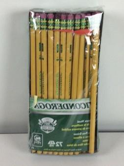 Ticonderoga Wood-Cased Graphite Pencils, #2 HB Soft, With Er