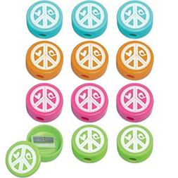 Amscan Hippie Chick Birthday Party Round Sharpeners Favor ,