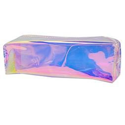 Monique Students Holographic Pencil Case Holder Tassels Stat