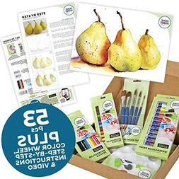 HomeHobby 14302 Watercolor Trio of Pears Kit 53-Piece Assort