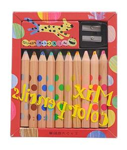 KOKUYO Japanese Mixed Colored Pencil 10 Piece Set with a Pen