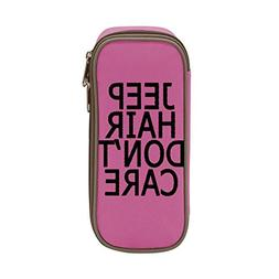 FTIAL Jeep Hair Don't Care Big Capacity Pencil Case Double Z