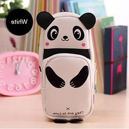 Gbell Kawaii 3D Panda Pencil Case with Compartments, Large C
