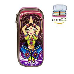 Kid Pencil Case Fashion Yoga Lisa School Pen Bag Big Capacit