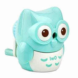 Kids Hand held Manual Pencil Sharpener with Cover for Colore