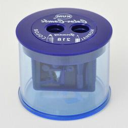 KUM 218T BLUE DOUBLE PENCIL SHARPENER FOR GRAPHITE AND COLOR