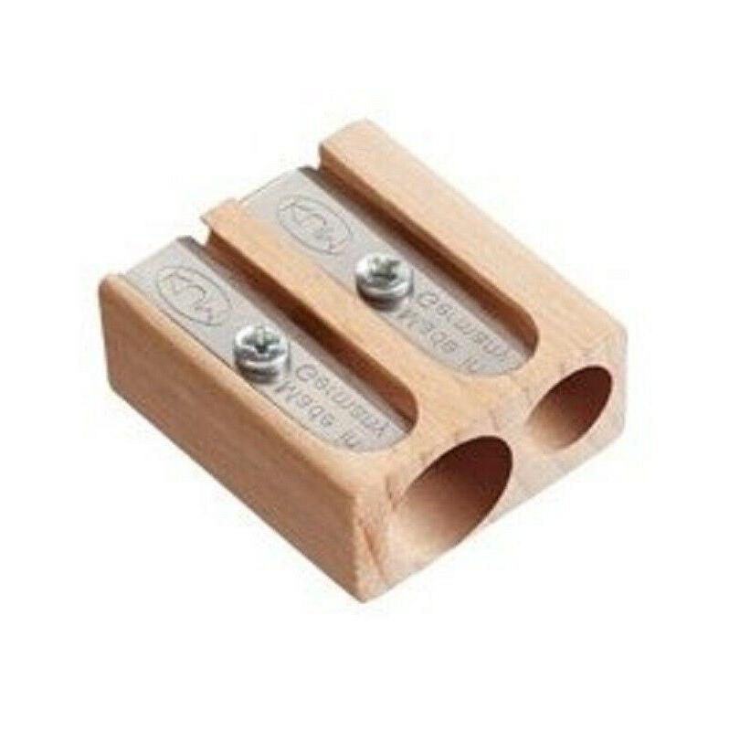 1x Wood 2-Hole Pencil 2 Sizes Small Quality