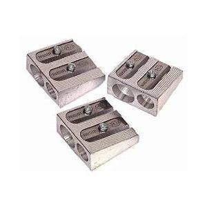 24 Pack: KUM 1040502 2-Hole Pencil Sharpener Magnesium Alloy