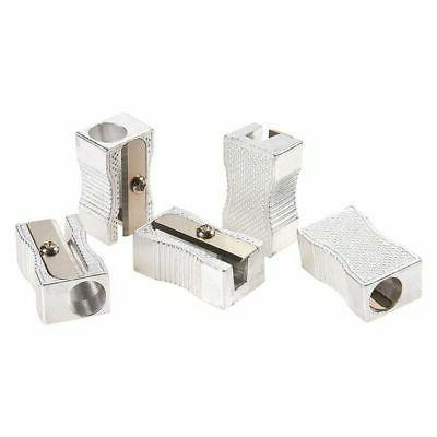 24-Count Sharpener Manual Aluminum Mini Silver