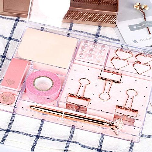 MultiBey Rose Gold Tone Stationery Set Memo Note Copper Students'