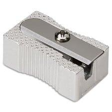 Aluminum Pocket Sharpener, Steel, Silver, Sold as 1 Each