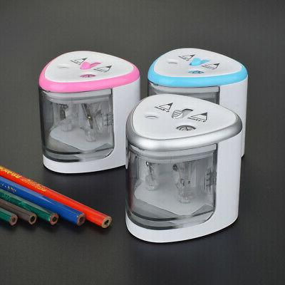 Automatic Electric Pencil Sharpener Multi-functional 2 Holes