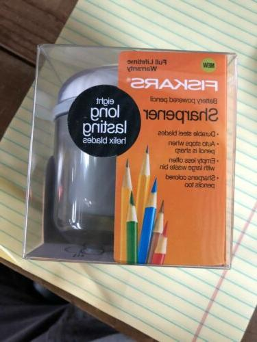 battery powered pencil sharpener lifetime warranty new