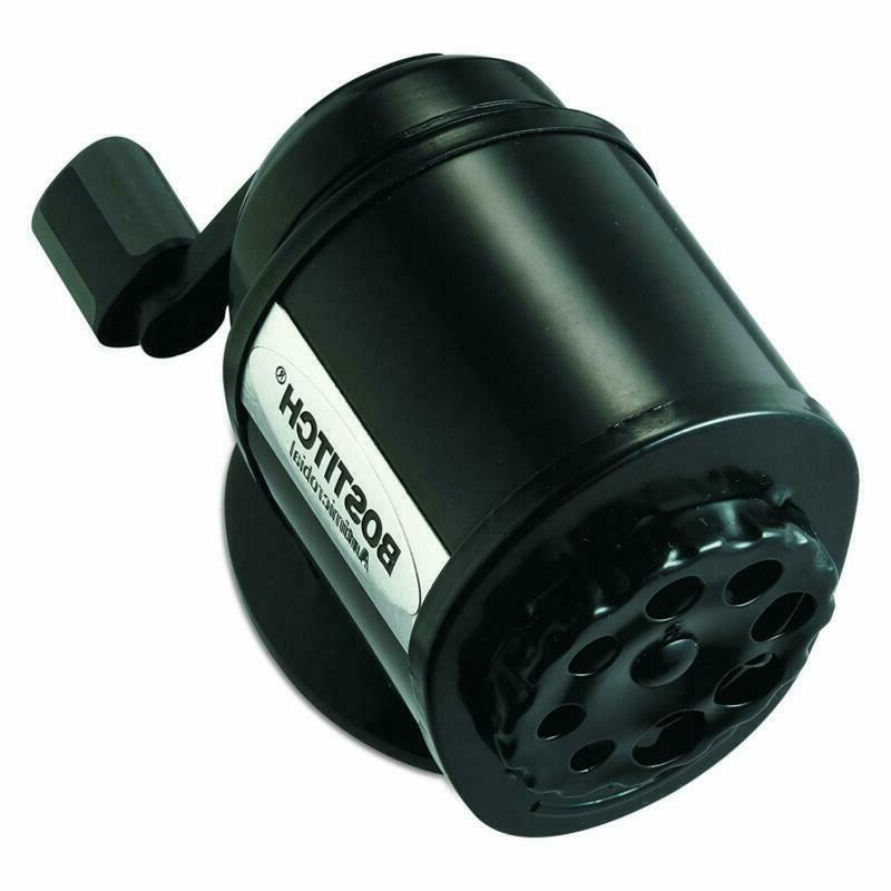 Bostitch Metal Antimicrobial Pencil Sharpener, Black + Free